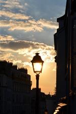 Preview iPhone wallpaper France, Paris, city, street lamp, dusk