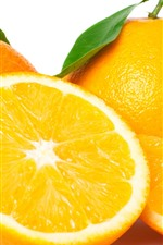 Preview iPhone wallpaper Fresh oranges, fruit, white background