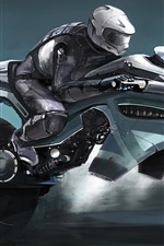 Futuristic motorcycle, art picture
