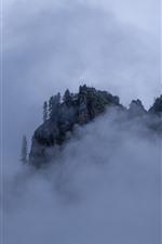 Gannan, mountain, fog, clouds, nature, China