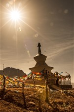 Preview iPhone wallpaper Gannan, temple, sunshine, China