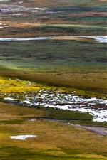 Preview iPhone wallpaper Gannan, wetland, water, grass, China