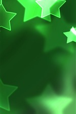 Preview iPhone wallpaper Green stars, shine, creative picture