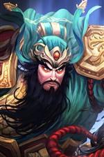 GuanYu, herói, retrato da arte