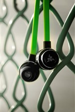 Headphone, wire fence