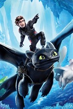 Preview iPhone wallpaper How to Train Your Dragon 3