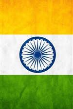 Preview iPhone wallpaper India flag