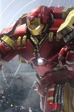 Preview iPhone wallpaper Iron Man, Hulkbuster