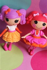 Preview iPhone wallpaper Lalaloopsy, colorful anime toy girls