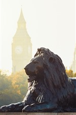Preview iPhone wallpaper Lion statue, London, England