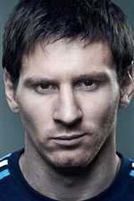 Preview iPhone wallpaper Lionel Messi 01