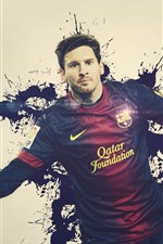 Preview iPhone wallpaper Lionel Messi 02