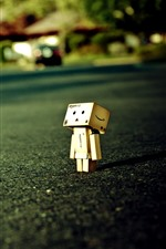 Preview iPhone wallpaper Lonely Danboard, road
