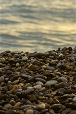 Preview iPhone wallpaper Many cobblestones, sea