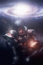 Mass Effect, warrior, galaxy, stars
