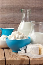 Preview iPhone wallpaper Milk, cheese