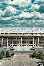 Preview iPhone wallpaper Moscow, Luzhniki, stadium, city, Russia