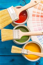 Preview iPhone wallpaper Paint, buckets, colors, brush