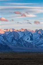 Preview iPhone wallpaper Pamirs, mountains, sky, clouds