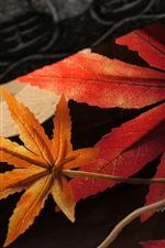Plastic maple leaves