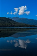 Preview iPhone wallpaper Rara Lake, clear water, reflection, blue sky, Nepal