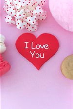 iPhone fondos de pantalla Corazón de amor rojo, pasteles, decoración.