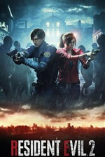 Preview iPhone wallpaper Resident Evil 2 Remake, PS4 game, rain, zombies