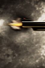 Preview iPhone wallpaper Revolver pistol, shoot, bullet, moment