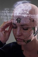 Robot, girl, knowledge, creative design