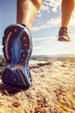Running, foot, grass, nature