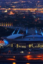 Saint Petersburg, stadium, night, city, Russia