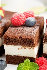 Sandwich cake, chocolate, raspberry, blueberry