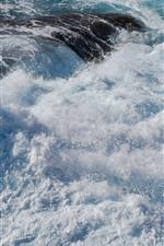 Preview iPhone wallpaper Sea water, splash, foam, white