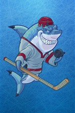 Preview iPhone wallpaper Shark, teeth, art picture