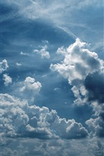 Preview iPhone wallpaper Sky, clouds, nature
