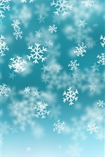 Preview iPhone wallpaper Snowflakes, stars, blue background