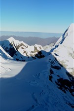 Preview iPhone wallpaper Snowy mountains, snow, shadow