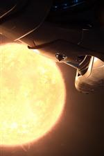 Aperçu iPhone fond d'écranVaisseau spatial, planète, soleil