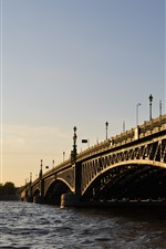 Preview iPhone wallpaper St. petersburg, bridge, river, city