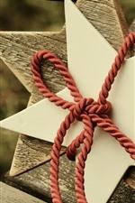 Estrelas, decoração, corda