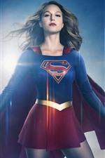 Preview iPhone wallpaper Supergirl, Melissa Benoist, TV series