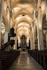 Switzerland, Lucerne, church, interior, hall