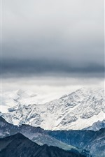 Switzerland, Pilatus, mountains, snow, clouds