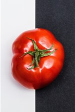 Preview iPhone wallpaper Tomato, black and white
