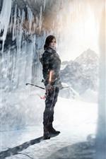 미리보기 iPhone 배경 화면 툼 레이더, 라라 크로프트, 얼음, 눈, 햇빛