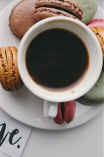 Preview iPhone wallpaper Tulips, coffee, macaron