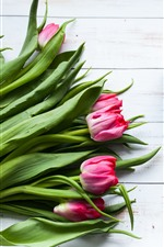 Preview iPhone wallpaper Tulips, roses, macaron