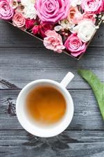 Tulips, roses, tea