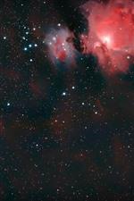 Universo, estrelado, galáxia vermelha