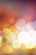 Círculos de luz quentes, brilhantes
